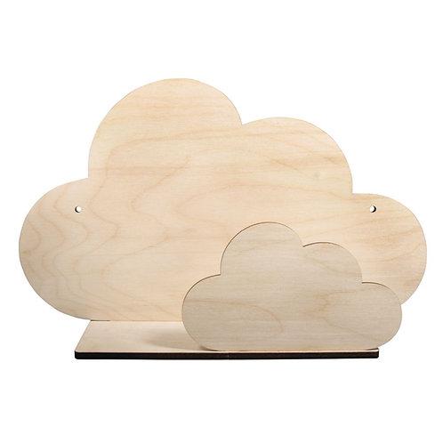 Holzbausatz Regal Wolke, FSCMixCred 35x21x10cm, 5-teilig, Box 1Set, natur