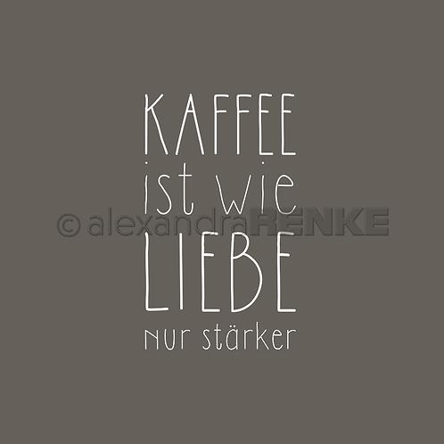 "Holz Stemel ""Kaffee ist wie Liebe"" 19x32.5mm"