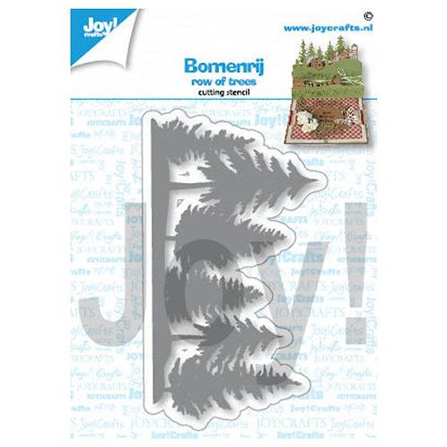 Joy!Crafts Cutting stencil Row of trees