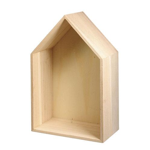 Holz Rahmen Haus FSC Mix Credit 24x16x8cm, mit Aufhänger