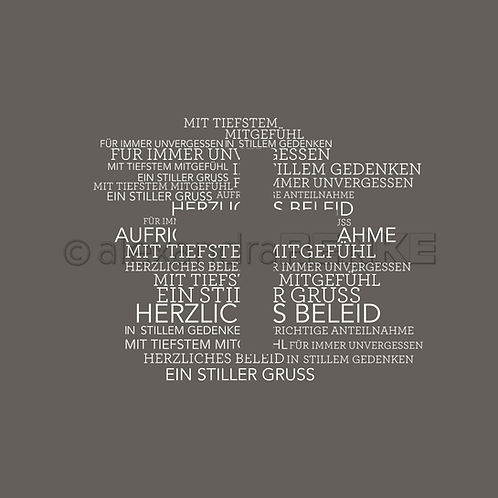 """Holz Stempel """"Ein stiller Gruss"""" 71x57mm"""