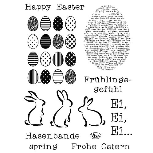 Stempel Clear, Frohe Ostern 14x18cm