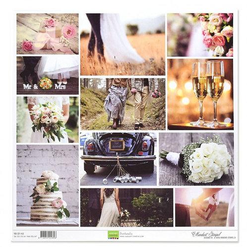 Vaessen Creative Papier Hochzeitsbilder, 30.5x30.5cm