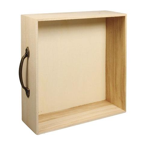 Holz Rahmen Schublade FSC Mix Credit 25x25x8cm, mit Aufhänger