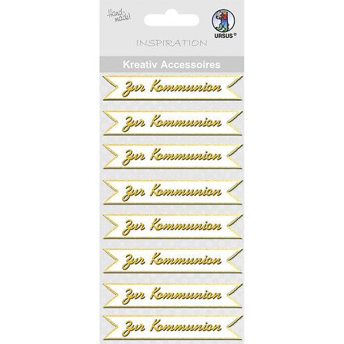 """Kreativ Accessoires """"Zur Kommunion"""" gold - Motiv 148"""