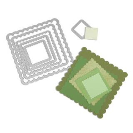 Sizzix Framelits Set Quadrate mit Zierrand
