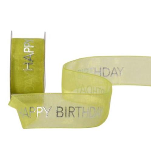 Cubino Happy Birthday 25mm, 3m