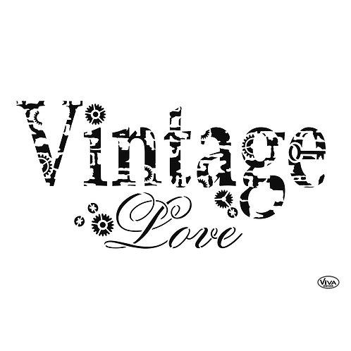 Universal Schablone A4 Vintage Love
