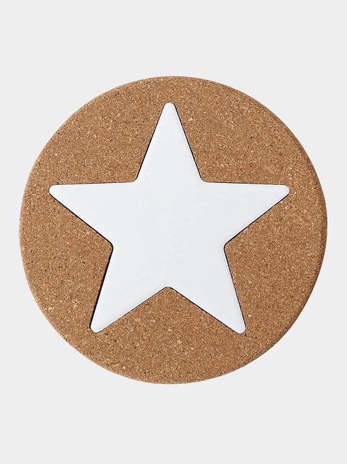 Korkuntersetzer ø 20 cm, Stern