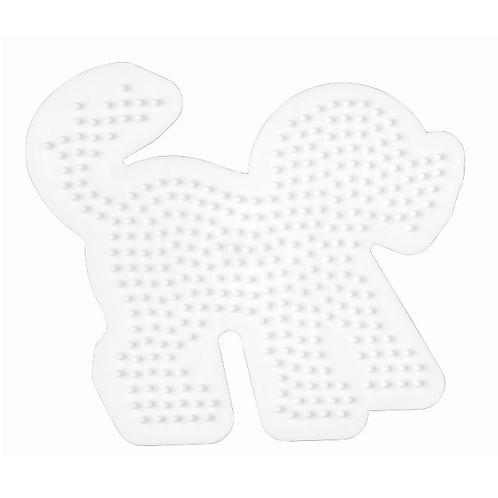 Midi Stiftplatte weiss - Hund (311 Stifte) 12x13.5cm