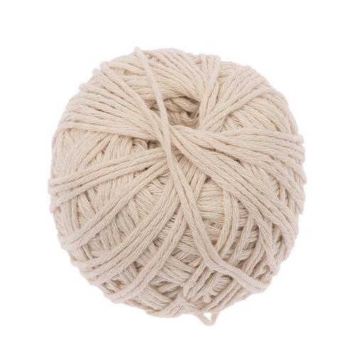 Baumwolle Schnur, Knäuel 60m beige