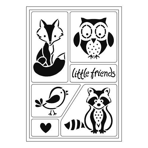 Flex Schablone A5 Little Friends