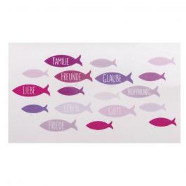 Wachsmotiv Fische 8,5x5cm, SB-Btl 1Stück