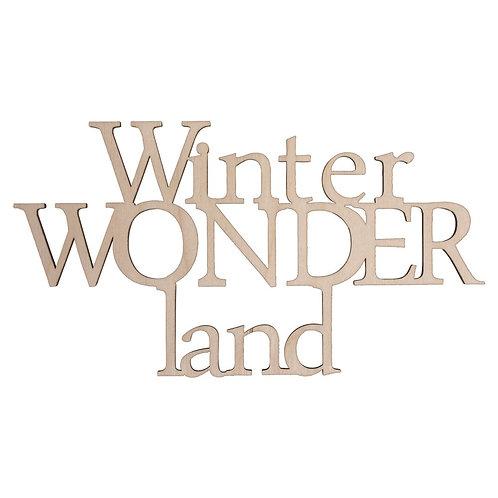 Holzschrift Winterwond..., FSC100%, 22x11,9cm