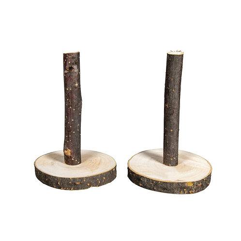 Deko Holzständer natur, 7-7,5cm ø, 10cm, Bund 2Stück, natur