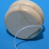 Jo-Jo flach Holz natur D.6cm