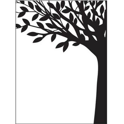 Darice Prägeschablone Baumstamm mit Blättern 10.7x14.6cm