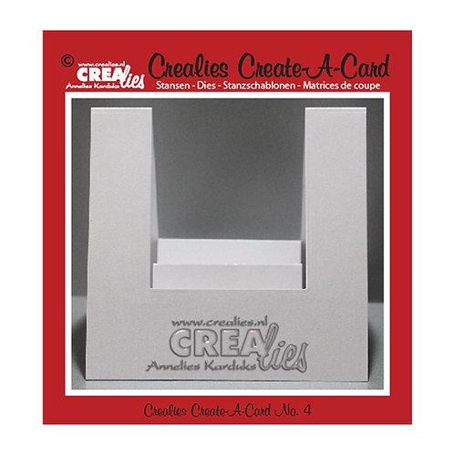 Crealies  Create A Card Stanzschablone no.4 Karte kreieren