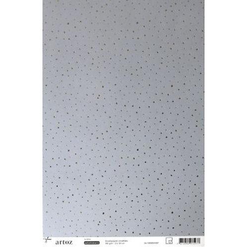 Artoz Papier selbstklebend, Schneeflocken silber, A4+ 180gm2