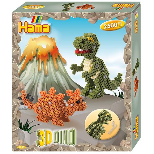 Geschenkpackung 3D-Dino, 2500 Midi Perlen 5mm und Zubehör