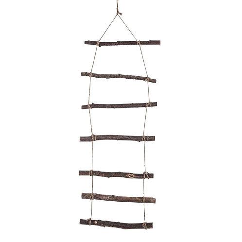 Deko Holzleiter zum Hängen 96x30x2cm, natur