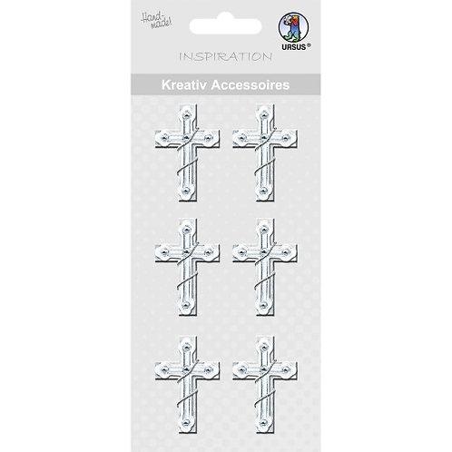 "Kreativ Accessoires ""Kreuz"" silber - Motiv 220"