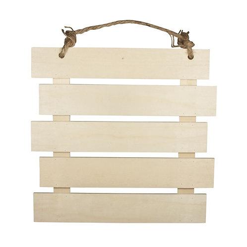 Holz Lattenrahmen zum Hängen, FSC MixCred 30,5x31,6x1,5cm, natur