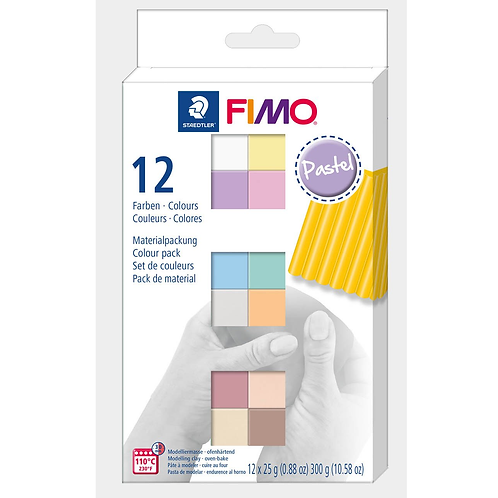 FIMO soft Colour Pack 12x25g, 12 Farben pastell