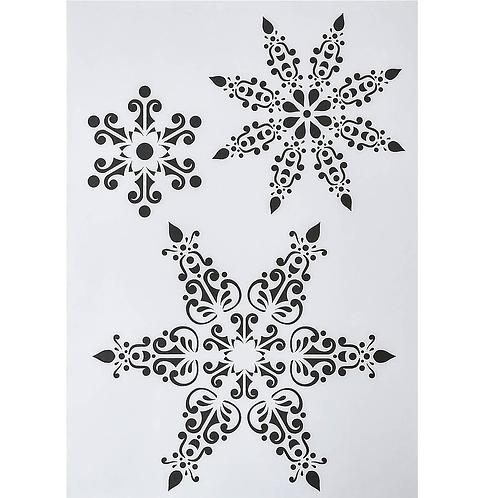 Kunststoff Schablone A4 Schneeflocke