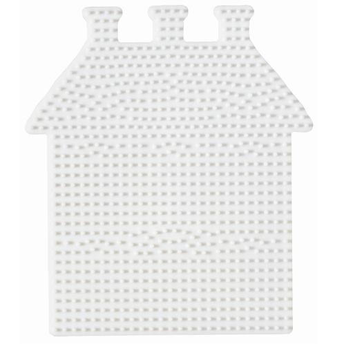 Midi Stiftplatte weiss - Haus (784 Stifte) 17x15cm