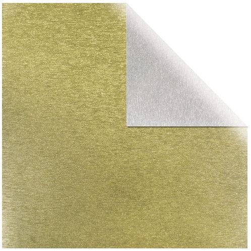 Scrapbooking Papier Metalleffekt gebürstet 30.5x30.5cm, 250g/m2