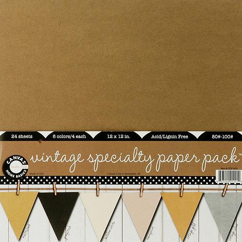 Canvas Corp Paper pack 30,5x30,5cm Vintage specialty 24Blatt