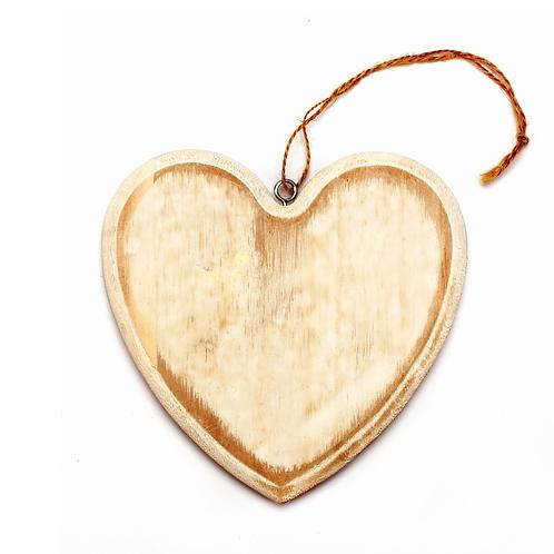 Holz Herz weiss