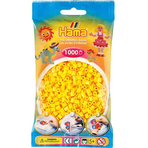Midi Perlen 5mm in Beutel, 1000 Perlen gelb