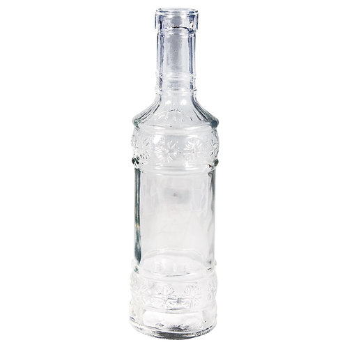 Glas Flasche 21cm, øunten:6cm, ø oben:2,3cm (Öffnung)