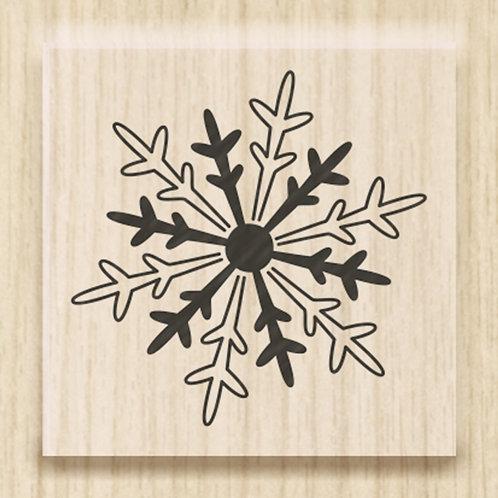 "Holz Stempel Weihnachten ""Eiskristall mini""  Motivgrösse 2.5x2.5cm"
