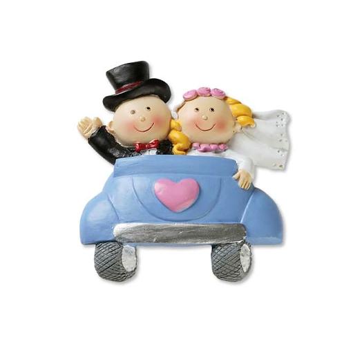Hochzeitspaar im Auto 5.5cm 2D
