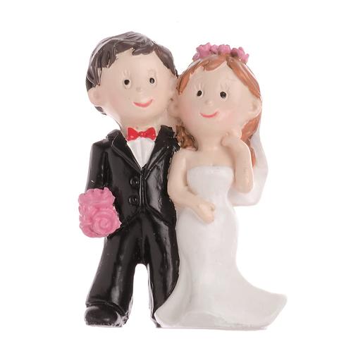 Hochzeitspaar mit Rose, 5cm