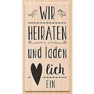 """Holz Stempel Hochzeit """"Wir heiraten"""""""