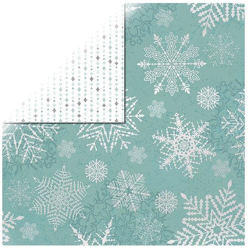 Scrapbookingpapier Falling Snowflakes 30,5x30,5cm, 220g/m2, mit Folie