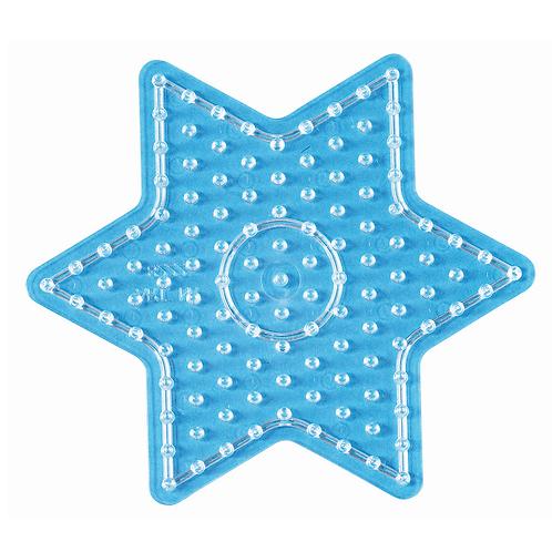 Maxi Stiftplatte transparent - Stern (121 Stifte) 14.5x15.5cm