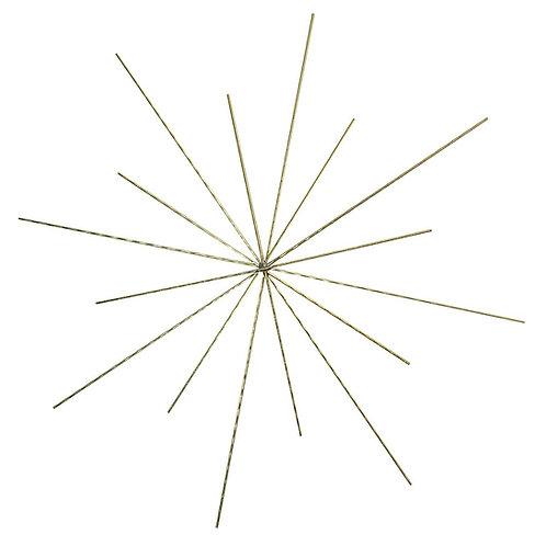 Drahtstern für Perlen, 15/10cm ø, Drahtstärke 0,7mm, SB-Btl 3Stück