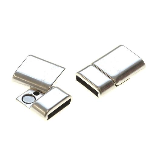 Magnetverschluss Loch 10x2.2mm silber