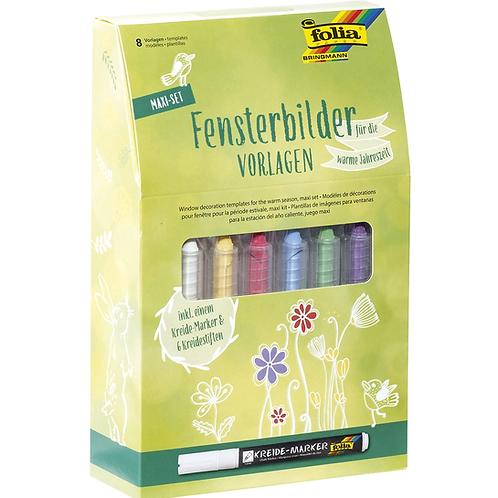 Fensterbilder Set inkl. Stiften / Vorlagen
