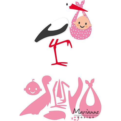 Marianne Design Stanzschablone Eline's Storch