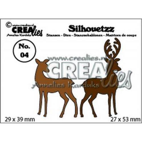 Crealies  Silhouetzz  Stanzschablone No. 04  Hirsch