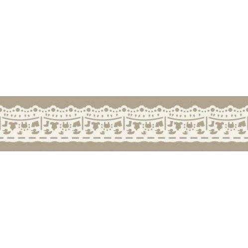 Spitzenband Wäscheleine, aus Papier, selbstklebend, 24mmx200cm