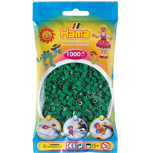 Midi Perlen 5mm in Beutel, 1000 Perlen grün