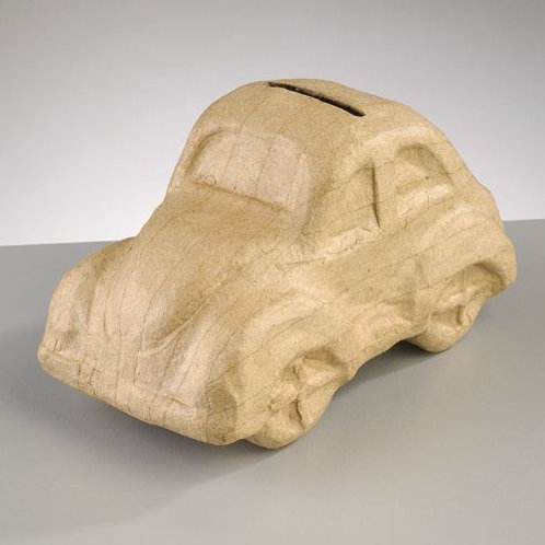 PappArt Figur Spardose, VW Käfer, 16,5 x 8,5 x 9 cm