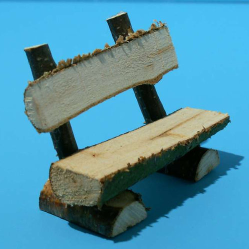 Holzbank rustikal 6x4cm